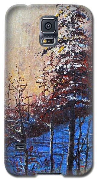 Galaxy S5 Case featuring the painting Autumn Silence by Dan Whittemore