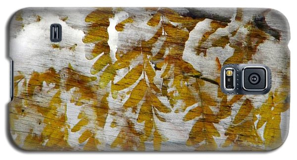 Galaxy S5 Case featuring the photograph Autumn Snow by Michelle Frizzell-Thompson