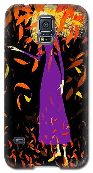 Galaxy S5 Case featuring the digital art Autumn Spirit by Barbara Moignard