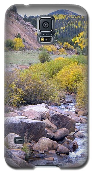 Galaxy S5 Case featuring the photograph Autumn Stream by Michelle Frizzell-Thompson