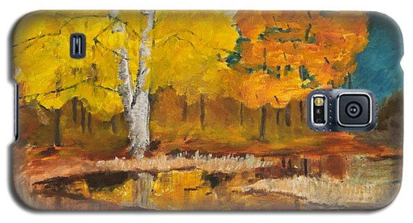 Galaxy S5 Case featuring the painting Autumn Tranquility by Cynthia Morgan