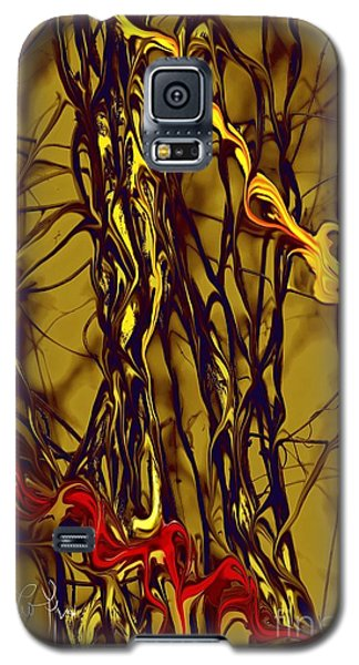 Galaxy S5 Case featuring the digital art Shapes Of Fire by Leo Symon