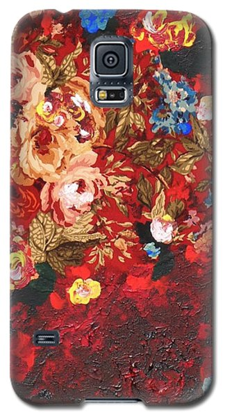 Galaxy S5 Case featuring the painting Baba's Garden Lg by Alys Caviness-Gober