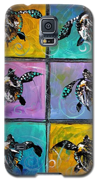 Baby Sea Turtles Six Galaxy S5 Case