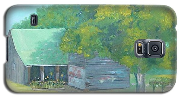 Galaxy S5 Case featuring the painting Backyard by Carol Berning