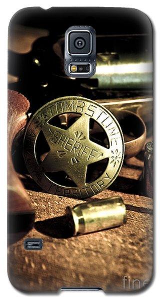 Badge And Gun Galaxy S5 Case