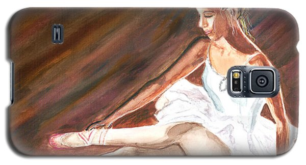Galaxy S5 Case featuring the painting Ballet Dancer by Clara Sue Beym