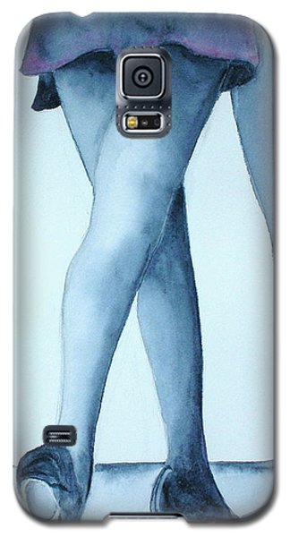 Galaxy S5 Case featuring the painting Ballet Legs by Mary Kay Holladay