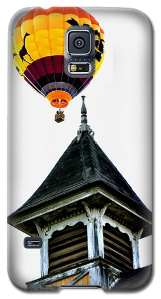 Galaxy S5 Case featuring the photograph Balloon By The Steeple by Rick Frost