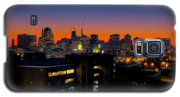 Galaxy S5 Case featuring the photograph Baltimore At Sunset by Mark Dodd