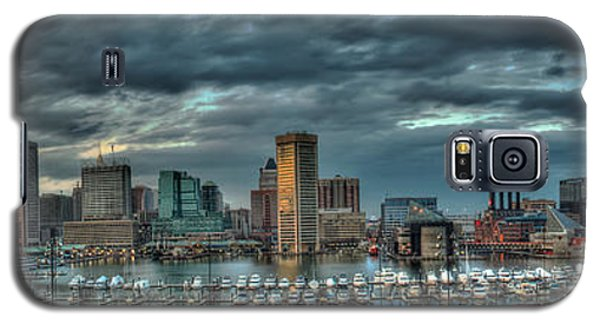 Galaxy S5 Case featuring the photograph Baltimore Inner Harbor Pano by Mark Dodd