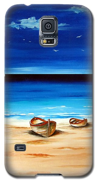 Galaxy S5 Case featuring the painting Barchette In A Peaceful Afternoon by Roberto Gagliardi