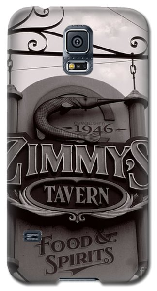 Galaxy S5 Case featuring the photograph Barhopping At Zimmys 1 by Lee Craig