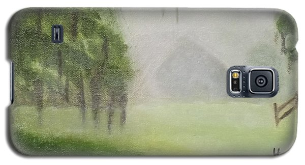 Barn On Foggy Morning Galaxy S5 Case