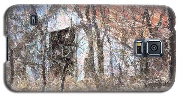 Barn Through Trees Galaxy S5 Case