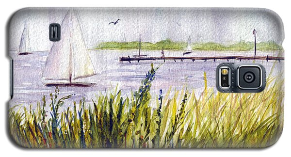 Galaxy S5 Case featuring the painting Barnegat Sails by Clara Sue Beym