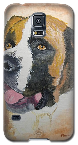 Galaxy S5 Case featuring the painting Baxter by Norm Starks