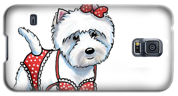 Beach Babe Westie Galaxy S5 Case