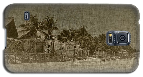 Beach Huts In A Tropical Paradise Galaxy S5 Case