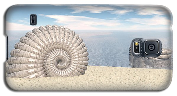Galaxy S5 Case featuring the digital art Beach Of Shells by Phil Perkins