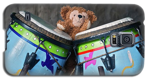Galaxy S5 Case featuring the photograph Bear And His Drums At Walt Disney World by Thomas Woolworth