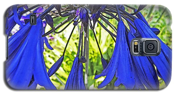 Galaxy S5 Case featuring the digital art Beautiful Bluebells Close-up by Anne Mott