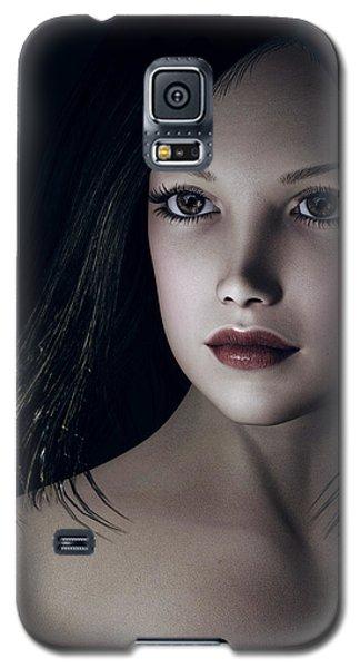Galaxy S5 Case featuring the digital art Beautiful Portrait by Maynard Ellis