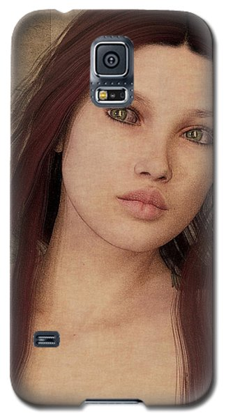 Galaxy S5 Case featuring the painting Bedroom Portrait by Maynard Ellis