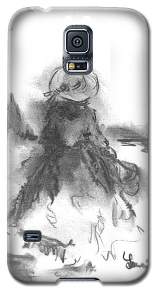 Galaxy S5 Case featuring the drawing Being Happy by Laurie L