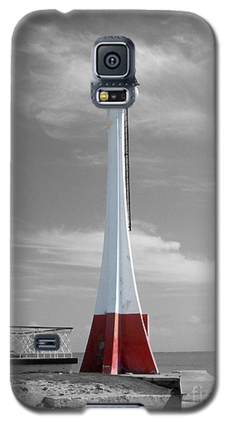 Galaxy S5 Case featuring the photograph Belize City Lighthouse Color Splash Black And White by Shawn O'Brien