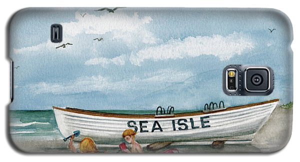 Galaxy S5 Case featuring the painting Best Buddies In Sea Isle  by Nancy Patterson