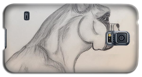 Galaxy S5 Case featuring the drawing Big Boxer by Maria Urso