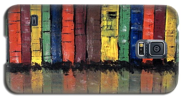 Galaxy S5 Case featuring the painting Big City Color by Kathy Sheeran