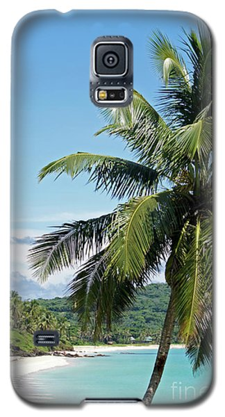Galaxy S5 Case featuring the photograph Big Corn Island Palm Tree Nicaragua by John  Mitchell