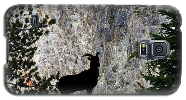 Galaxy S5 Case featuring the photograph Big Horn Sheep Silhouette by Dan Friend