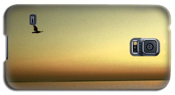 Bird At Sunrise - Sepia Galaxy S5 Case by Desiree Paquette
