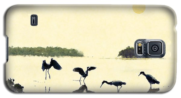 Galaxy S5 Case featuring the photograph birds feeding in the Everglades by Dan Friend