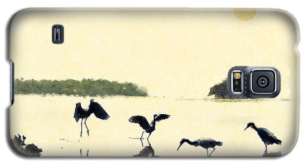 birds feeding in the Everglades Galaxy S5 Case