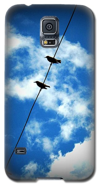 Galaxy S5 Case featuring the photograph Birds On A Wire by Robin Dickinson