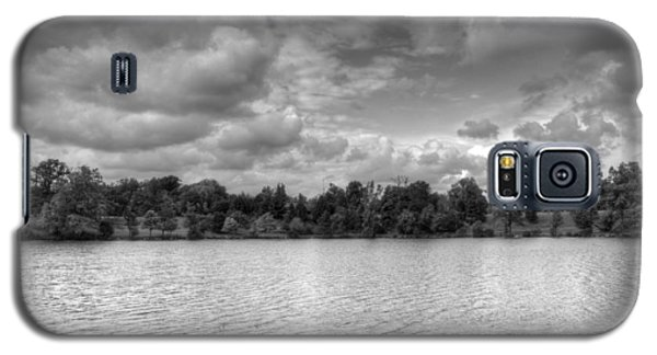 Galaxy S5 Case featuring the photograph Black And White Autumn Day by Michael Frank Jr