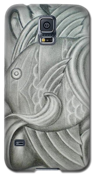 Black And White Fish Galaxy S5 Case