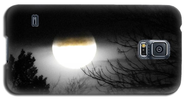 Galaxy S5 Case featuring the photograph Black And White Full Moon by Michelle Frizzell-Thompson