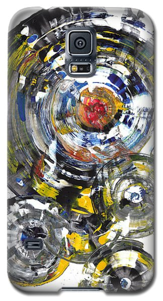 Galaxy S5 Case featuring the painting Black And White Shines Brightly  843.120911 by Kris Haas