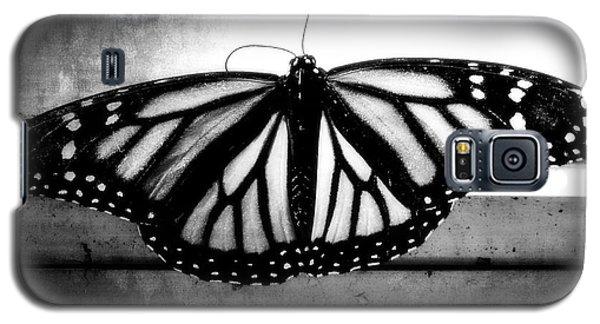 Black Butterfly Galaxy S5 Case by Julia Wilcox