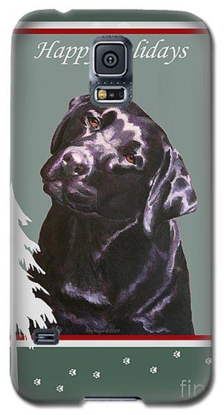 Black Labrador Portrait Christmas Galaxy S5 Case