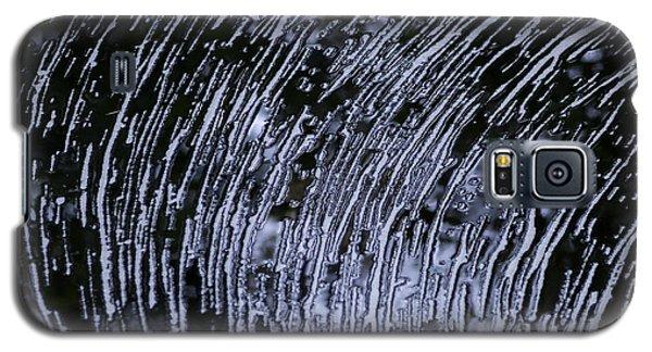 Black Water White Foam Galaxy S5 Case by Betty Depee