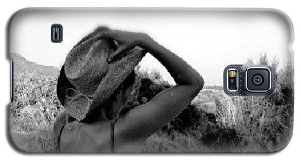 Classic Galaxy S5 Case - #blackandwhite #girl #hat #nature by Torbjorn Schei