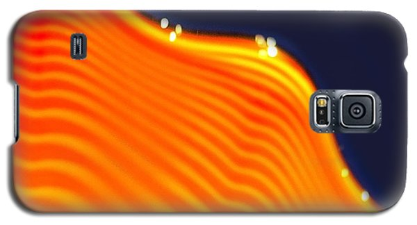 Blue And Orange Galaxy S5 Case by Artist and Photographer Laura Wrede