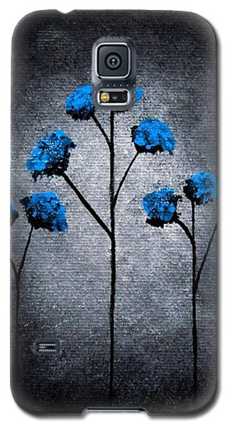 Galaxy S5 Case featuring the painting Blue Beauties by Oddball Art Co by Lizzy Love