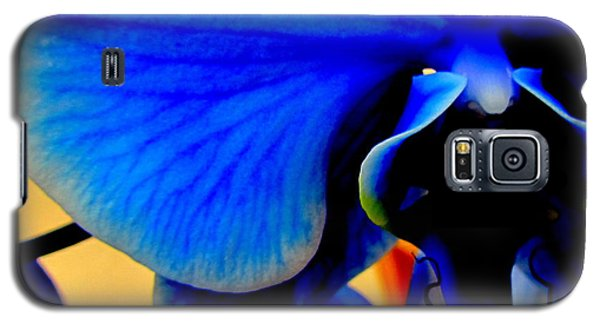 Blue Diamonds Orchids Galaxy S5 Case